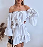"""Сукня жіноча молодіжна з воланом, розмір 42-46(oversize)(3ол)""""IRINA"""" купити недорого від прямого постачальника"""