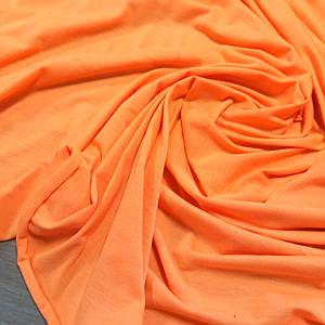 Стрейч кулир пенье ярко-оранжевый, ширина 180см