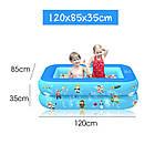 Надувной детский бассейн 120*85*35 для купания, океанских шариков и игр 2 слоя, фото 5