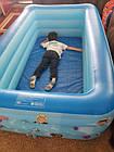 Надувной детский бассейн 120*85*35 для купания, океанских шариков и игр 2 слоя, фото 7