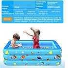Надувной детский бассейн 120*85*35 для купания, океанских шариков и игр 2 слоя, фото 3