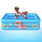 Надувной детский бассейн 120*85*35 для купания, океанских шариков и игр 2 слоя, фото 2