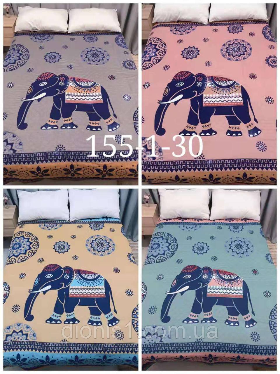 Простирадло Слони/Коні 160х210 льон. 100 % бавовна