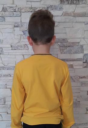 Нарядный реглан для мальчика 140 роста Янтарьный, фото 2