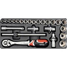 Вставка ложемент для инструментального ящика с набором головок и трещоткой 1/2'' YATO YT-5537
