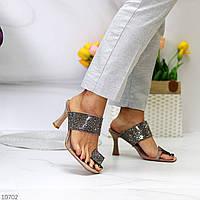 Женские босоножки на каблуке с квадратным носком. Размеры 36-40, фото 1