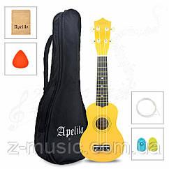 Укулеле Сопрано Apelila YW (Чехол+Комплект струн+Медиатор+2 наконечника на пальцы)