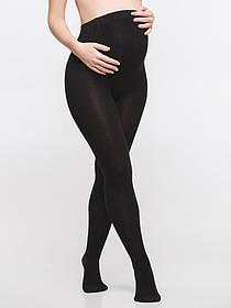 Теплые колготки с бамбуковым волокном для беременных 250 Den черные