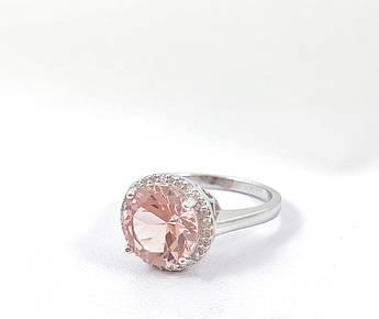 Кольцо серебряное с морганитом Т4500 ( 17.5 р.)