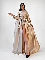 Плаття Довге Шовкове жіноча Вечірня *Золотий пісок*, фото 1