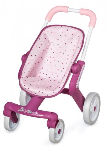 Коляска для ляльок з поворотними колесами, прогулянкова, від 18 міс, Baby Nurse, Smoby