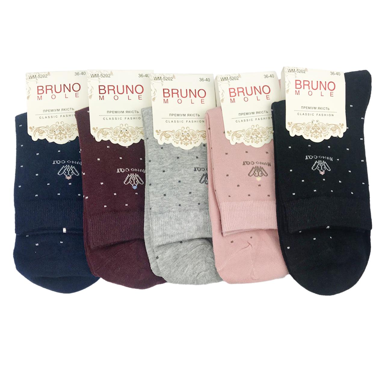 Шкарпетки жіночі середні в крапочку BRUNO р. 36-40