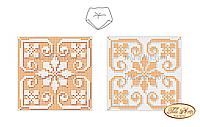 """Cхема на ткани для вышивки бисером Бискорню """"Золотая снежинка"""" В-006"""