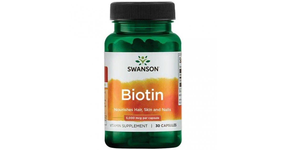 Swanson Biotin 5,000 mcg, Біотин (30 капс.)