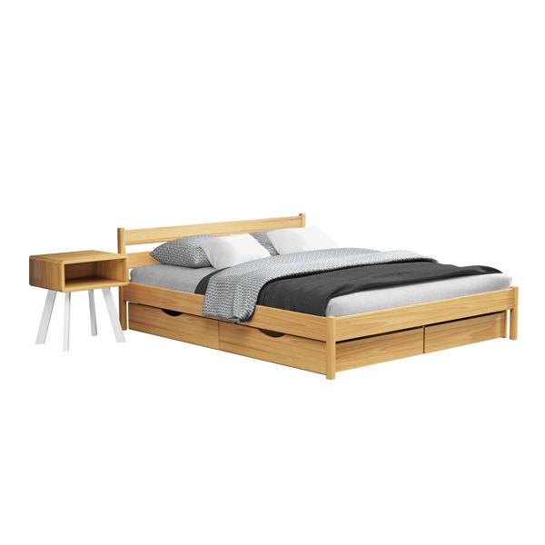 Кровать деревянная двуспальная Нота Бене (бук)