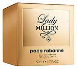 Парфумована вода жіноча Paco Rabanne Lady Million 30 мл, фото 4