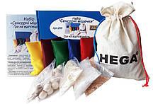 Набор Сенсорных мешочков HEGA  большой. Игра на соответствие c пособием