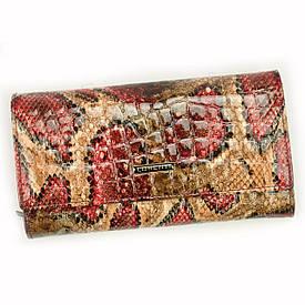 Женский кожаный кошелек Lorenti 76111-DR RFID Красный