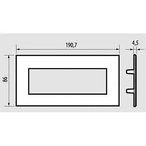 Bticino AXL Air рамка 6М алю. (HW4806HC)