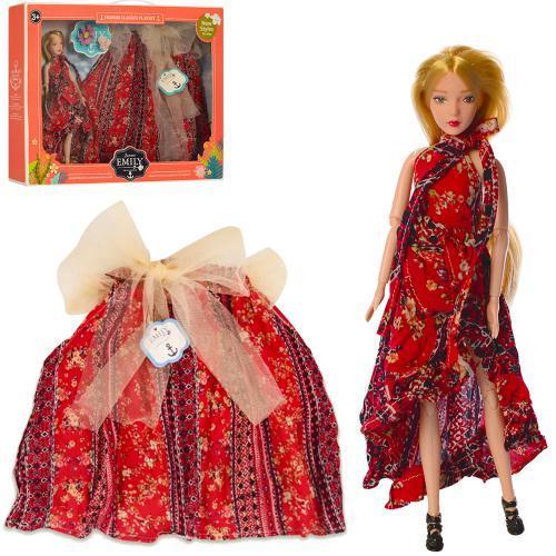 Лялька QJ091 шарнірна з дитячою спідницею 29см