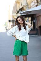 Летний повседневный костюм цвет Зелный + белый