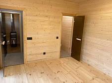 Двери для бани 70х190 см Greus Classik (матовая бронза) 2 петли, фото 3