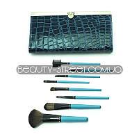 Набор кистей для макияжа в кошельке 8 (Бирюзовый)