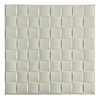Декоративна самоклеюча 3d панель 700*700*8 мм. на стелю та стіни біла
