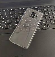 Чехол силиконовый прозрачный для Samsung A6, 0.5mm
