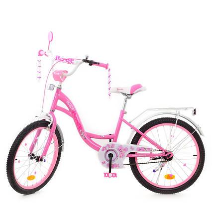 Детский двухколесный велосипед, колеса 20 дюймов, стальная рама, звонок, PROF1 Y2021-1 Butterfly