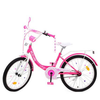 Детский двухколесный велосипед, колеса 20 дюймов, стальная рама, звонок, PROF1 Y2013-1 Princess