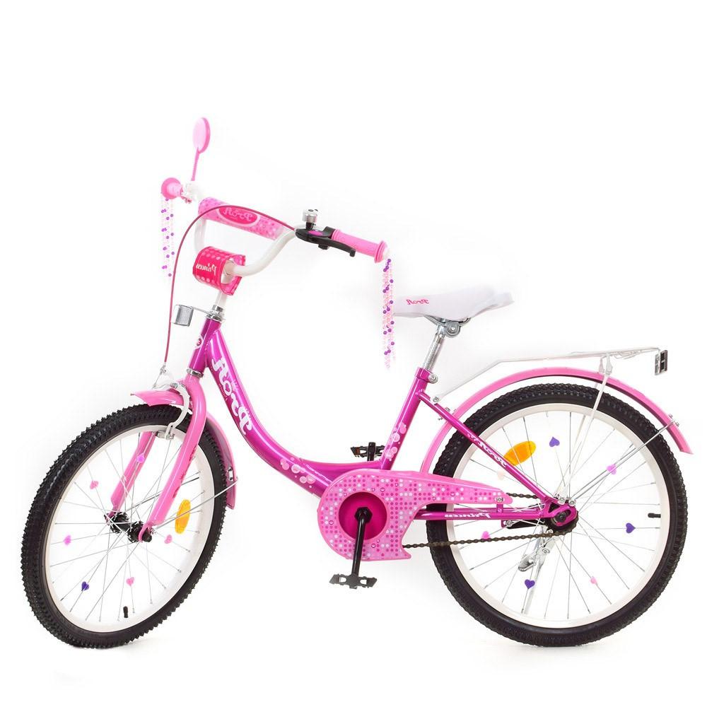 Детский двухколесный велосипед, колеса 20 дюймов, стальная рама, звонок, PROF1 Y2016-1 Princess