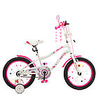 Дитячий двоколісний велосипед, колеса 18 дюймів, сталева рама, дзеркало, дзвінок, PROF1 Y18244 Unicorn, фото 3