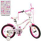 Дитячий двоколісний велосипед, колеса 18 дюймів, сталева рама, дзеркало, дзвінок, PROF1 Y18244 Unicorn, фото 5
