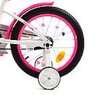 Дитячий двоколісний велосипед, колеса 18 дюймів, сталева рама, дзеркало, дзвінок, PROF1 Y18244 Unicorn, фото 6