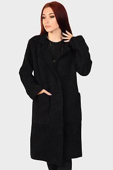 Пальто женское под альпаку черное 46-48 112666M