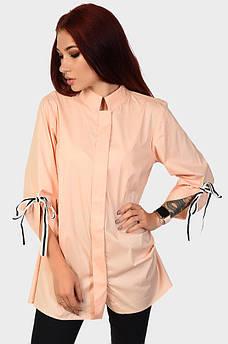 Рубашка женская розовая AAA 122055M