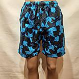 Чоловічі літні пляжні шорти є внутрішня сітка сині, фото 2