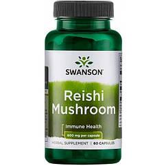Swanson Reishi Гриб 600 mg, Гриби Рейші (60 капс.)