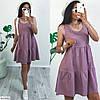 Жіноче Літнє Плаття лляне вільного крою 44, 46, 48, фото 4