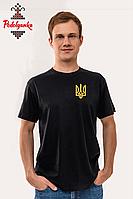 Чоловіча футболка з вишивкою Тризуб, фото 1