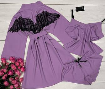 Комплекты Халат+пижама (хлопок,софт)