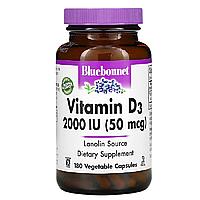 Вітамін D3 2000IU, Bluebonnet Nutrition, 180 гельових капсул