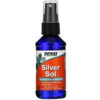 Колоїдне Срібло, Now Foods, Silver Sol, 4 рідких унцій (119 мл)