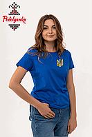 Жіноча футболка з вишивкою Тризуб, фото 1