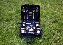 """Набір для пікніка в сумці з нержавіючої сталі """"Компакт-8"""" на 8 персон, фото 2"""