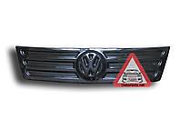 Зимняя накладка на решетку радиатора Volkswagen Caddy 2004-2010 (верх решетка) глянец
