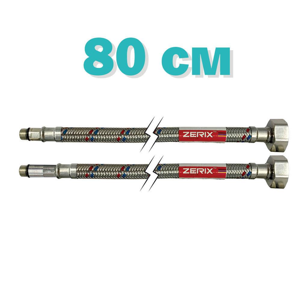Гнучка підводка (шланги нержавіючої обплетенні) M10-080 см ZERIX (ZX1575)