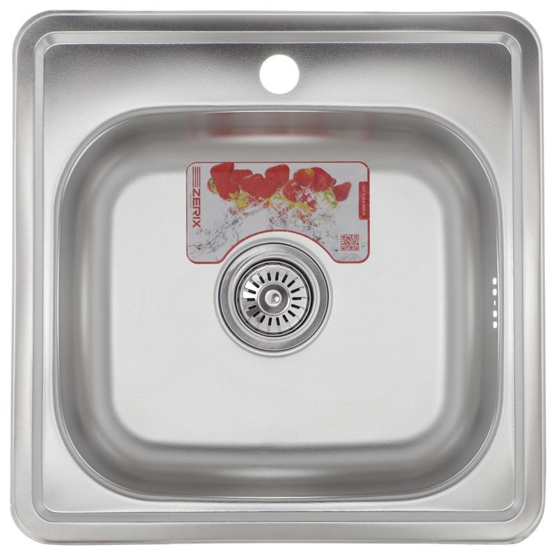 Мойка кухонная ZERIX Z4848-06-160D (decor) (ZM0558)