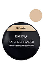 IsaDora Nature Enhanced Flawless Compact Foundation М'яка легка пудра 80 Porcelain